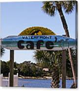 Waterfront Cafe Canvas Print