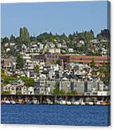 Waterfront Living On Lake Union Canvas Print