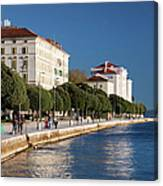 Waterfront Promenade In Zadar Canvas Print
