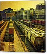Waterfront Rail Yard Canvas Print