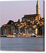 Waterfront, Rovinj, Croatia Canvas Print