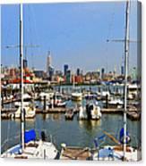 Waterfront View Hoboken Canvas Print