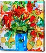 Waterglass Bouquet Canvas Print