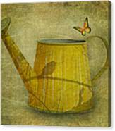 Watering Can With Texture Canvas Print