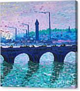 Waterloo Bridge Homage To Monet Canvas Print