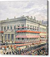 Waterloo Place And Pall Mall Canvas Print