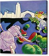 Watermelon Woman Canvas Print