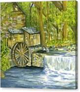 Watermill In The Woods Canvas Print