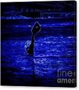 Water's Up In Neon Tweaked Canvas Print