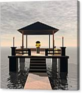 Waterside Gazebo Canvas Print