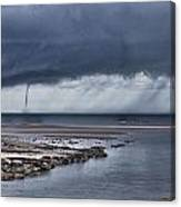 Waterspout Over The Ocean Canvas Print