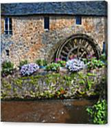 Waterwheel In Brittany Canvas Print