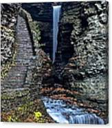 Watkins Glen Central Cascade Canvas Print