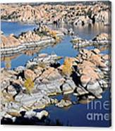 Watson Lake And The Granite Dells Canvas Print