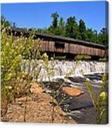 Watson Mill Covered Bridge From The Jetty Canvas Print