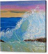 Wave At Sunrise Canvas Print
