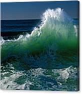 Wave Crashing On Pacific Coast, Oregon Canvas Print