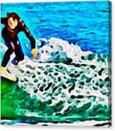 Wave Surfer Canvas Print