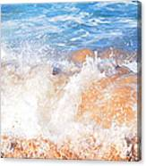 Wave Up Close Canvas Print