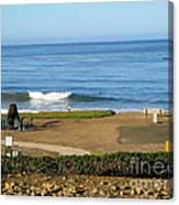 Wave Upon San Simeon Shore Canvas Print