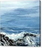 Waves A Crashing Canvas Print