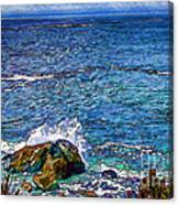 Waves And Splashes Canvas Print