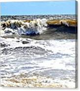 Waves At Tybee Canvas Print