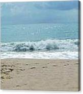 Waves At Vero Beach Fl Canvas Print