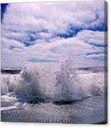 Waves Breaking At The Coast, Iceland Canvas Print