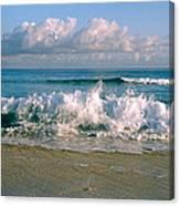 Waves Crashing On The Beach, Varadero Canvas Print