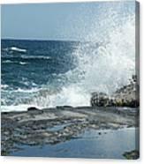 Waves Crashing On The Forbidden Isle Canvas Print