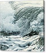 Waves In Stormy Ocean Canvas Print