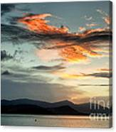 Waves In The Clouds Canvas Print