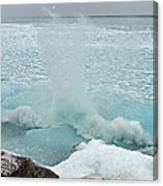 Waves Of Pancake Ice Crashing Ashore Canvas Print