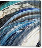 Textured Waves Of Blue Canvas Print
