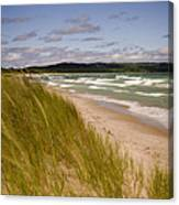 Waves Of Water And Grass Canvas Print