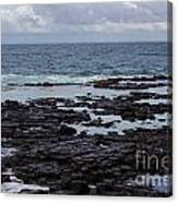 Waves Over  Rocks Canvas Print