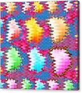 Waves Pattern Crystals Jewels Rose Flower Petals Canvas Print