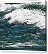 Waves Triptych Ll Canvas Print