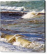 Waves - Wind - Fury Of The Sea Canvas Print