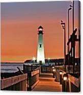 Wawatam Lighthouse Sunrise Canvas Print