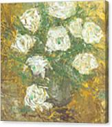 Waxen Roses Canvas Print