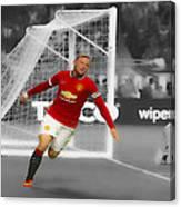 Wayne Rooney Scores Again Canvas Print