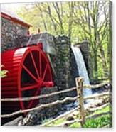 Wayside Inn Grist Mill Canvas Print