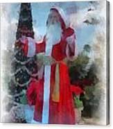 Wdw Santa Photo Art Canvas Print