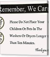 We Care Canvas Print