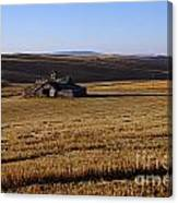 Weathered Barn In Field Canvas Print