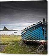 Weathered Boat On The Shore Canvas Print