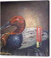 Weathered Canvasback Canvas Print
