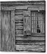 Weathered Door And Window 1 Canvas Print